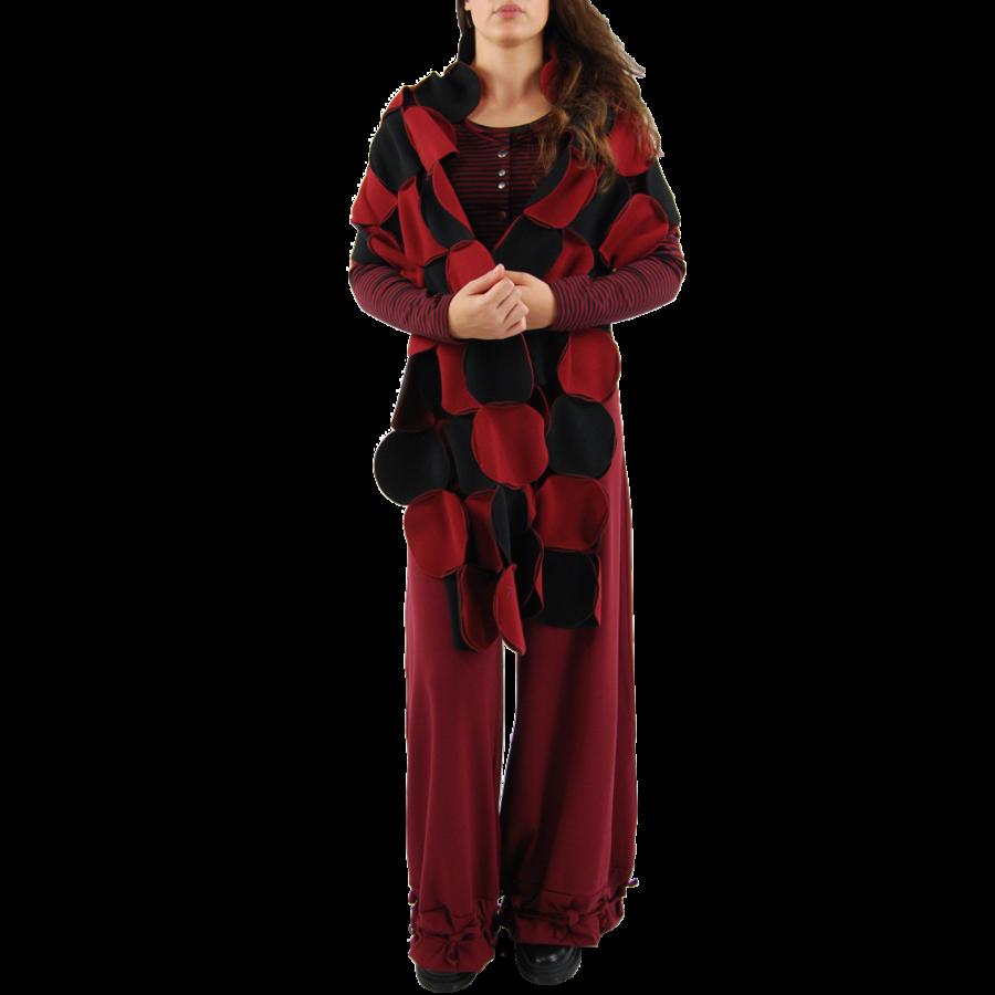 Sjaal cirkels fleece-2