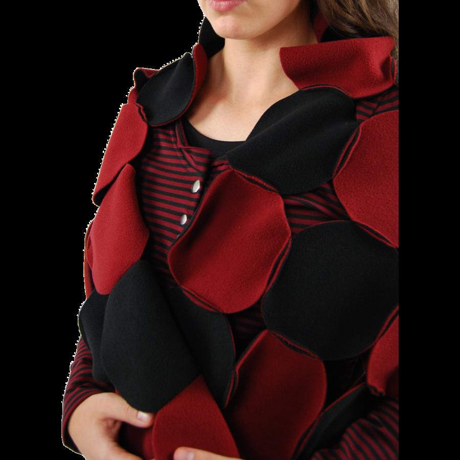 Sjaal cirkels fleece-5