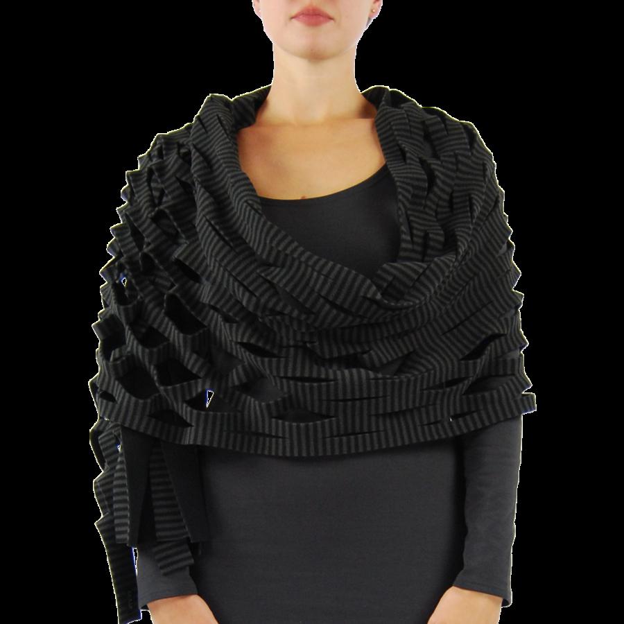 Sjaal insnijdingen fleece-3