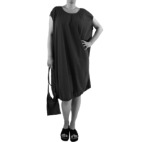 thumb-Wijde jurk elastiek-1