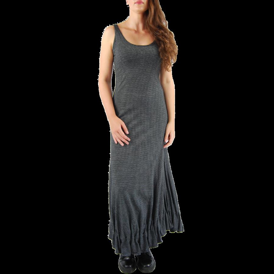 Lange jurk zonder mouwen-2