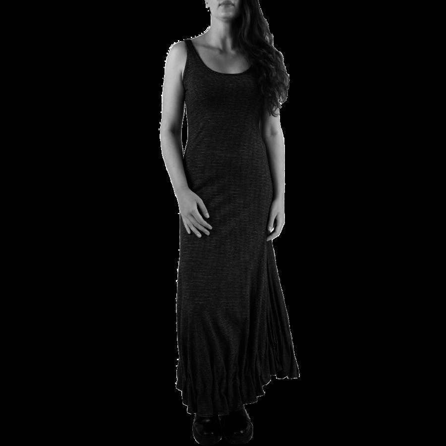 Lange jurk zonder mouwen-1