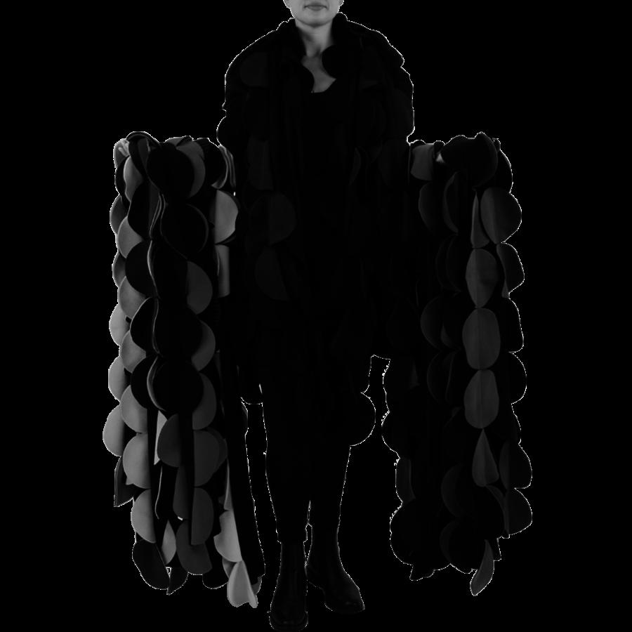 Sjaal cirkels fleece-1