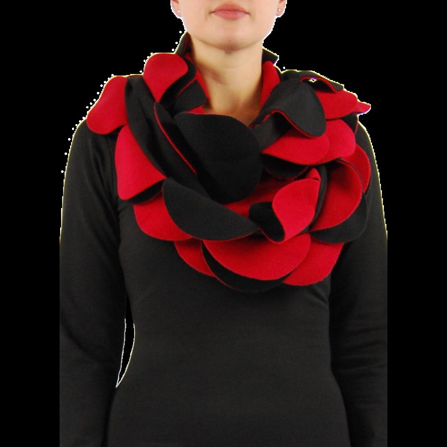 Sjaal cirkels fleece-4