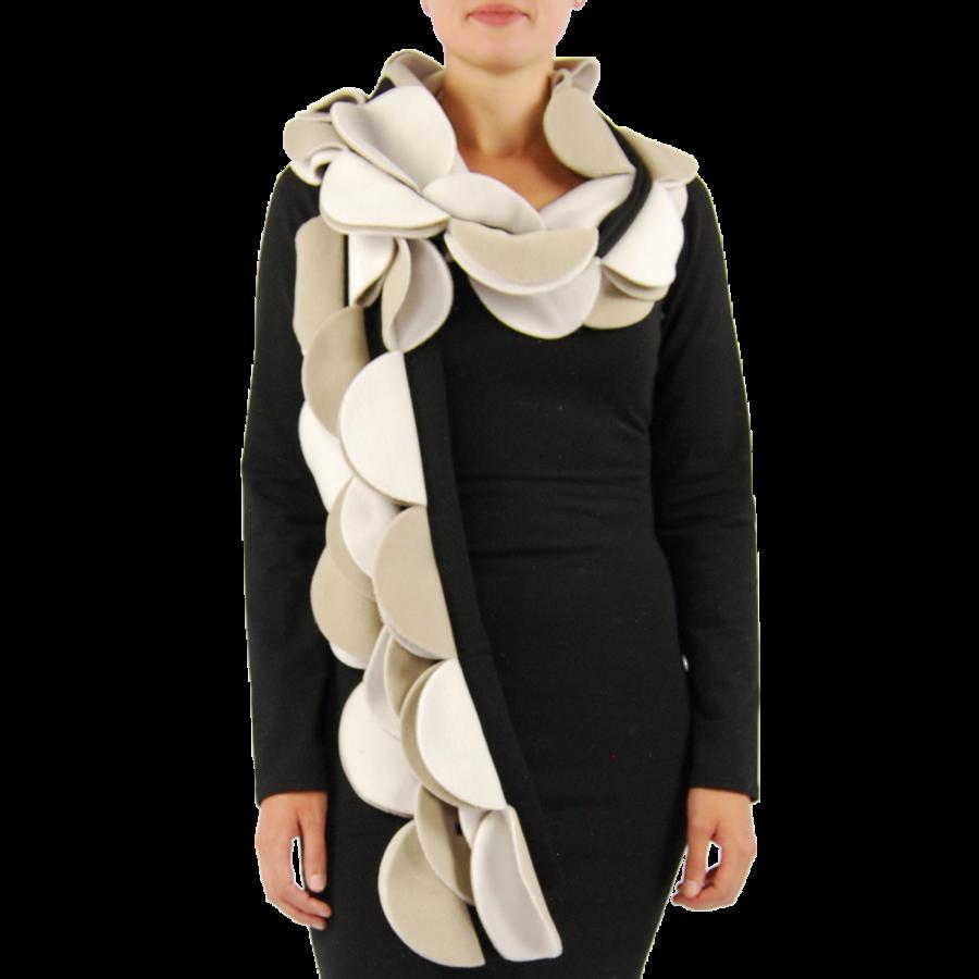 Sjaal cirkels fleece-3