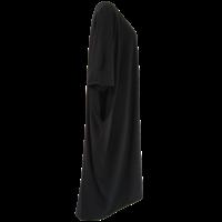 thumb-Lang wijd tuniek met zakken in de zijnaad van elastisch katoen.-6