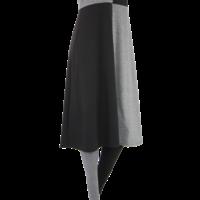 thumb-Jurk met een vlakverdeling in 2 kleuren en korte mouwen van katoen.-4