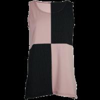 thumb-Hemd met een vlakverdeling in 2 kleuren en splitjes in de zijnaad van katoen.-2