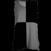 thumb-Hemd met een vlakverdeling in 2 kleuren en splitjes in de zijnaad van katoen.-1