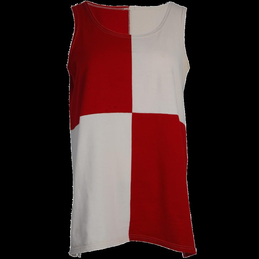 Hemd met een vlakverdeling in 2 kleuren en splitjes in de zijnaad van katoen.-3