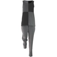 thumb-Broek met zakken, een brede tailleband en omslagen onderaan de broekspijpen.-3