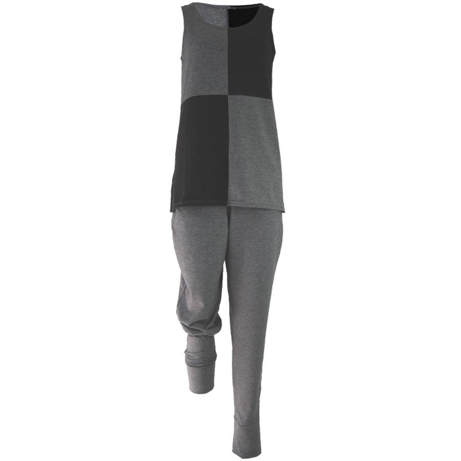 Broek met zakken, een brede tailleband en omslagen onderaan de broekspijpen.-3