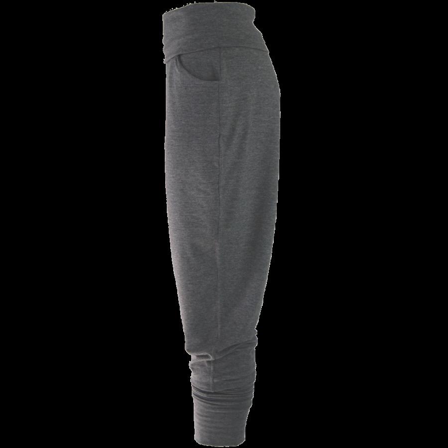 Broek met zakken, een brede tailleband en omslagen onderaan de broekspijpen.-4