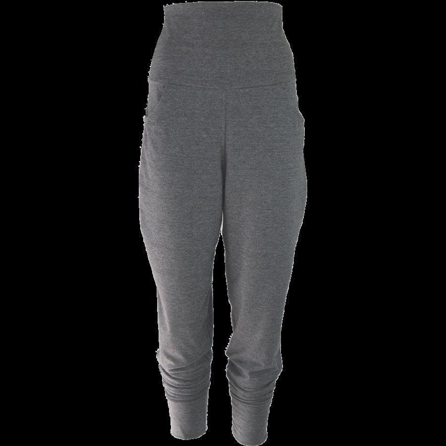 Broek met zakken, een brede tailleband en omslagen onderaan de broekspijpen.-2