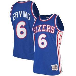 Mitchell & Ness Mitchell & Ness Sixers Julius Erving #6 Swingman Jersey Blauw