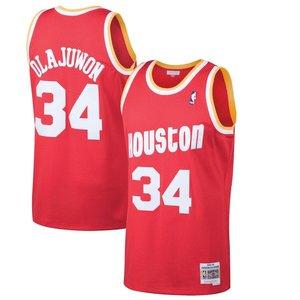 Mitchell & Ness Mitchell & Ness Rockets Hakeem Olajuwon #34 Swingman Jersey Rood