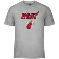 New Era NBA Tee Miami Heat Grau