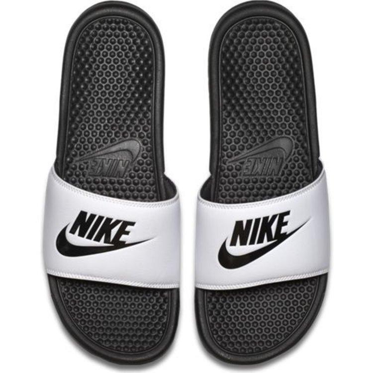 Nike Nike Benassi Just Do It Weiß Schwarz