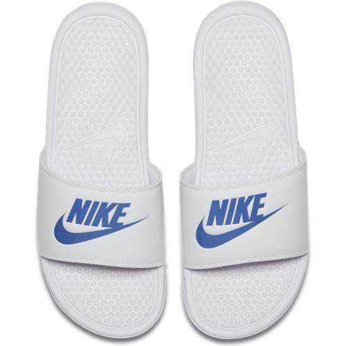 Nike Nike Benassi Just Do It Wit Blauw
