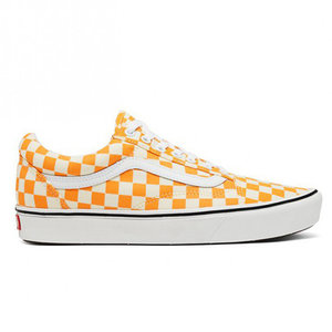 Vans Vans Comfycush Old Skool Checkerboard Zinnia Weiß