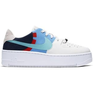 Nike Nike Air Force 1 Sage LX Low Wit Blauw
