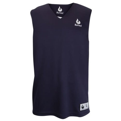 Burned Burned Double Sided Jersey Dark Blue White