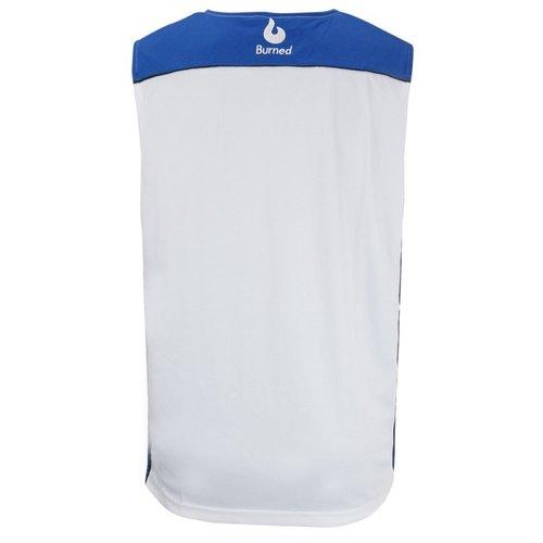 Burned Burned Beidseitig Jersey Blau Weiß