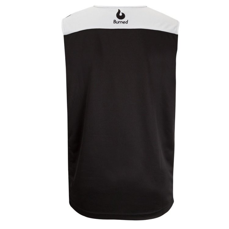 Burned Burned Beidseitig Jersey Schwarz Weiß