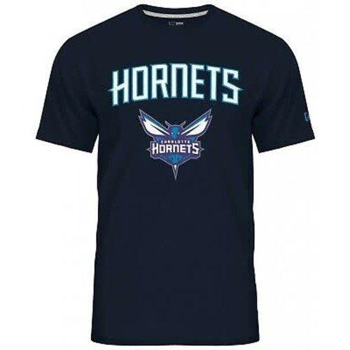 New Era New Era NBA Tee Charrlotte Hornets Donkerblauw