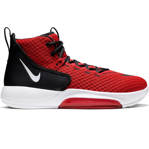 Nike Basketball Nike Zoom Rize (Team) Rood Wit Zwart