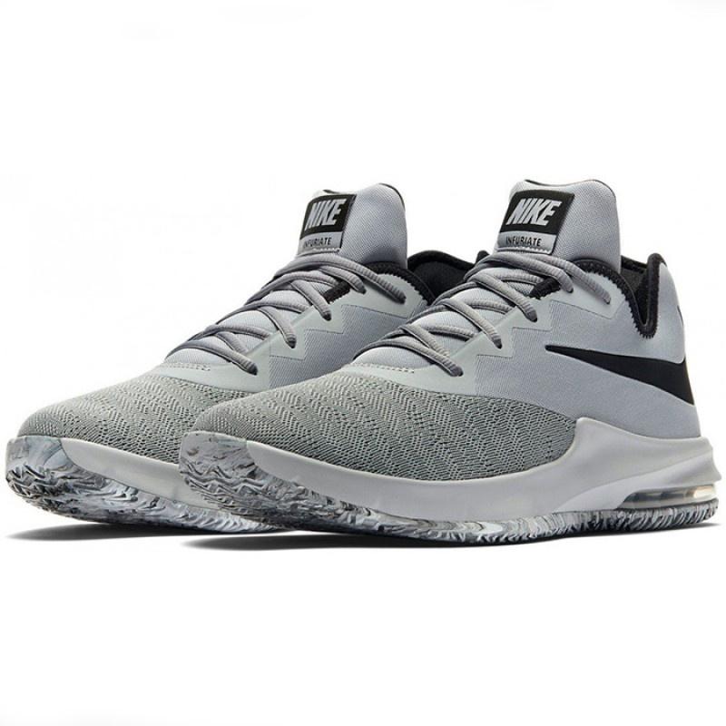 Nike Basketball Nike Air Max Infuriate III Low Grau Schwarz