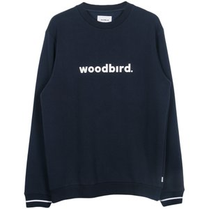 Woodbird Woodbird Mufti Karl Crewneck Blauw