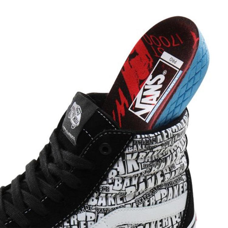 Vans Pro Vans x Baker Skateboards Sk8-Hi Pro Zwart Wit