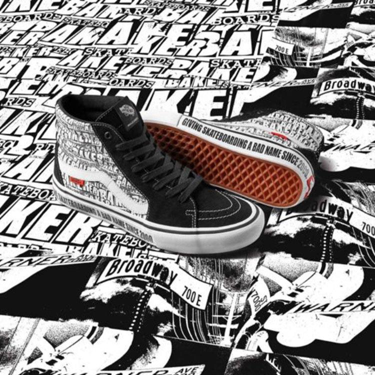 Vans Pro Vans x Baker Skateboards Sk8-Hi Pro schwarz weiß