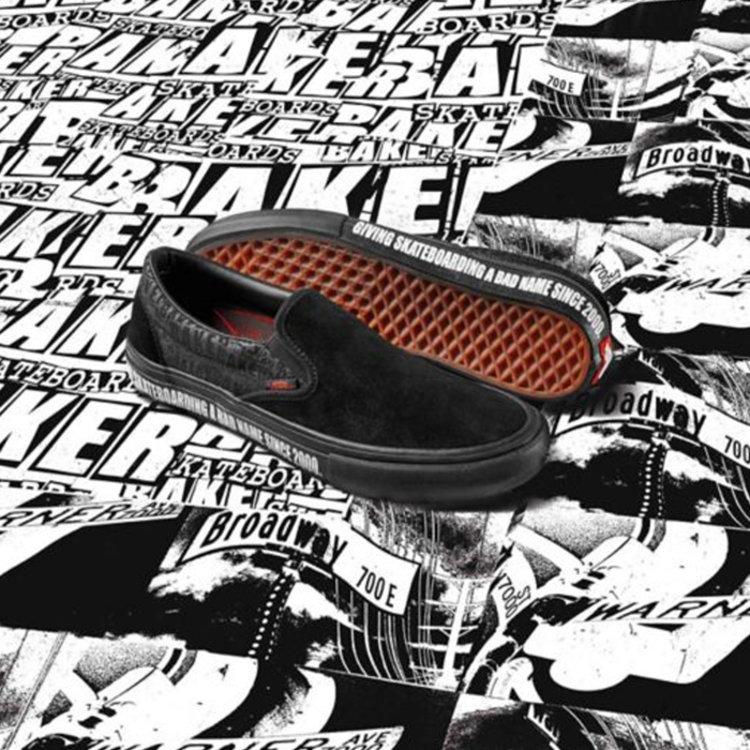 Vans Pro Vans x Baker Skateboards Slip-On Pro schwarz