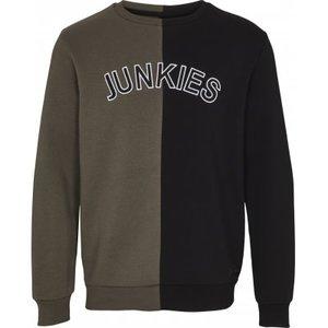 Just Junkies Just Junkies Erase Crewneck  Grün Schwarz
