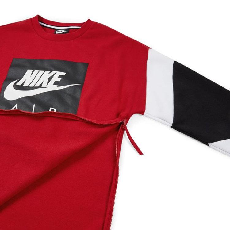 Nike Nike Air Crewneck Rot Weiss Grau