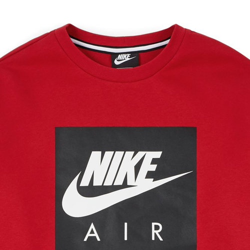 Nike Nike Air Crewneck Rood Wit Grijs