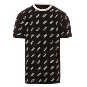 Vans Retro Allover Vans T-shirt Zwart
