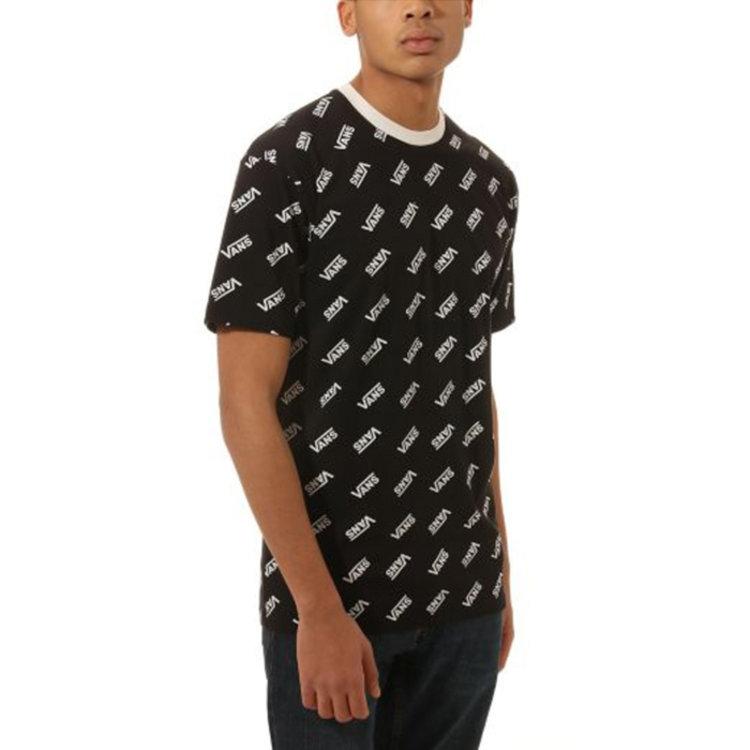 Vans Retro Allover Vans T-shirt schwarz