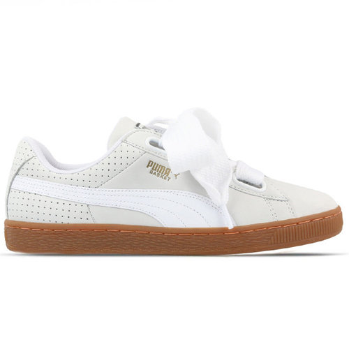 Puma Puma Basket Heart Wit