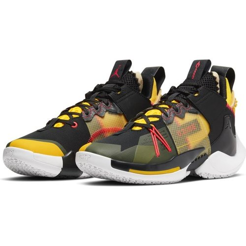 Jordan Basketball Jordan Why Not Zer0.2 SE (GS) Zwart Grijs Geel
