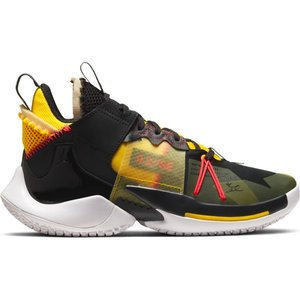 Jordan Basketball Jordan Why Not Zer0.2 SE (GS) Zwart Grijs Geel