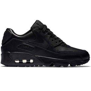 Nike Nike Air Max 90 Leer Zwart GS