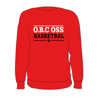 O.B.C Oss Crewneck Tekst Rood