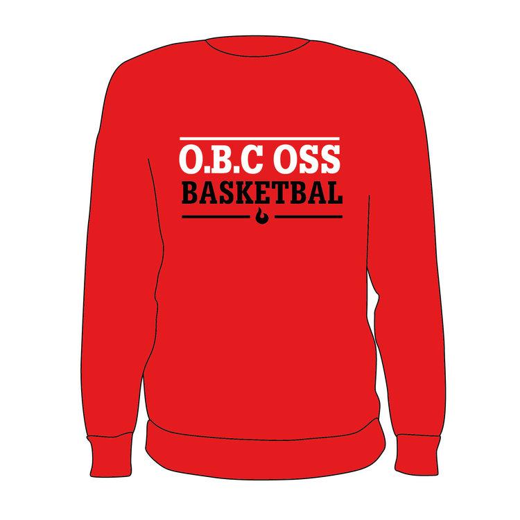Burned Teamwear O.B.C Oss Crewneck Tekst Rood