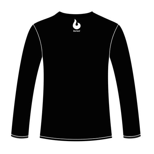 Burned Teamwear Pluto Wageningen Longsleeve Shootingshirt Tekst Zwart