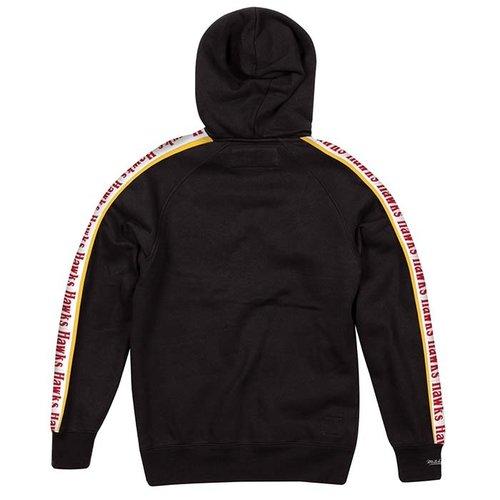 Mitchell & Ness Mitchell & Ness Atlanta Hawks Stripe Hoodie Zwart