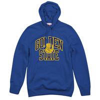 Mitchell & Ness Golden State Warriors Hoodie blau