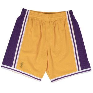 Mitchell & Ness Mitchell & Ness Los Angeles Lakers Youth Gold Swingman Shorts